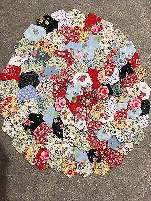 All Florals Selection Of Patchwork Hexagons X 100 Brand New Ready  Tacked