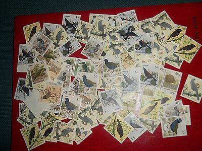 1982 Collection Of Used Native Bird Stamps From New Zealand To $5