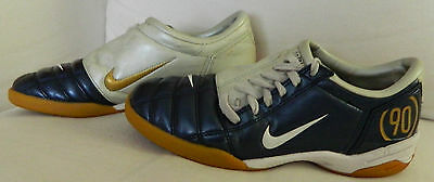 2a466dfdc NIKE Total 90 III Mens 7 SOCCER SHOES Indoor Training NAVY BLUE Ivory GOLD n
