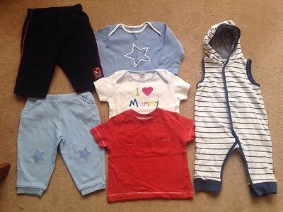 Baby Boys Age 3-6 Months Bundle Of Clothes Next Mothercare Trousers Tshirts