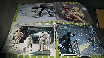 Set of 4, Star Wars, The Empire Strikes Back, Placemats 1981  B600.