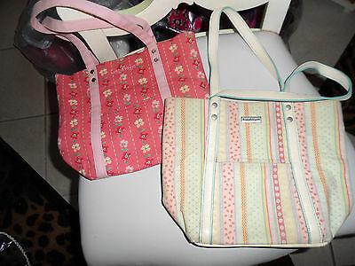 Lot of 2 pastel colored Longaberger totes