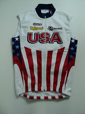 Cycling Winter Vest Usa High Road Slipstream Skins New! M