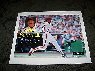 MIKE SCHMIDT PHILADELPHIA PHILLIES Print / Poster from Philadelpia Inquirer
