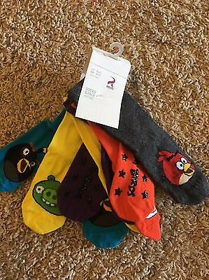 Angry Birds 5 Pack Socks NWT Toddler Size 8-9.5