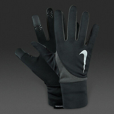 Nike Men's Dri-Fit Tailwind Run Gloves (Large, Black/Anthracite) SMART PH READY