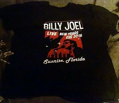 Billy Joel concert tshirt Sunrise Florida New years eve 2016 12/31/16 xxxl xxl
