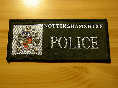 UK BRITISH POLICE - Obsolete Nottinghamshire Police rectangular Patch