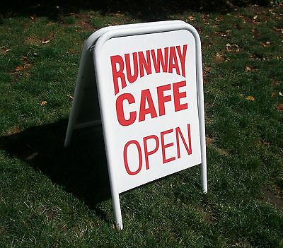 White metal A board advertising sign for cafe,shop etc