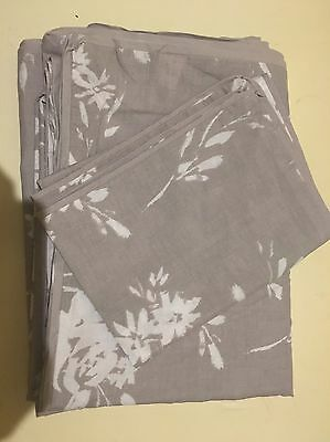 Beige Floral Single Duvet Cover And Pillow Case
