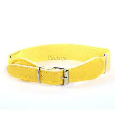 Fashion Boys Girls Adjustable Belt PU Leather Casual Infant Yellow Waistband Top