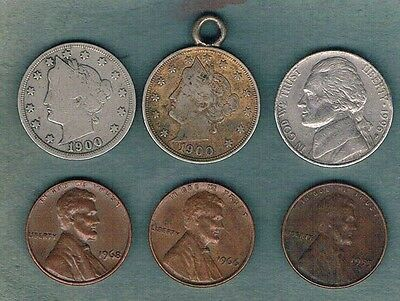 6 x Coins from United States