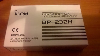 ICOM BP-232H Battery Pack 7.4v 2250mAh boxed new in box never used