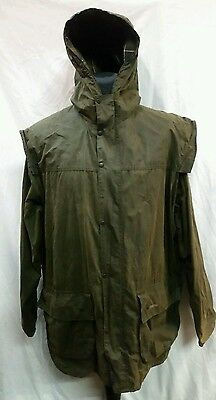 """Mens Barbour Classic Durham Sylkoil Wax Hooded Jacket Size 48"""" Chest"""