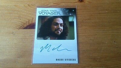 Star Trek Voyager Autograph card of Maury Ginsberg