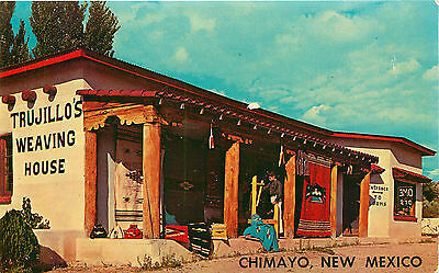 Trujillo's Weaving House, Chimayo, New Mexico, Vintage Postcard