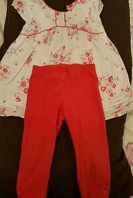 girls 9-12 months top and leggings
