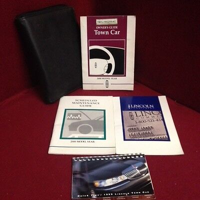 2000 Lincoln Town Car OEM Owners Manual set with service guide and case