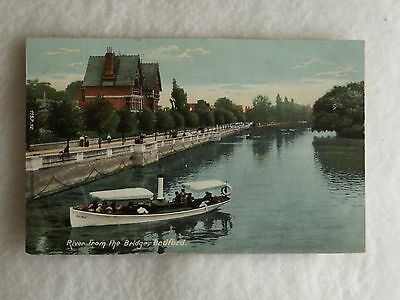 Early Era Theme  Postcard View Of The River At Bedford