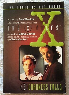 1995 The X-Files Book #2 DARKNESS FALLS Harper Trophy PB by Les Martin