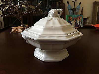 Vintage Red Cliff Ironstone Soup Tureen / Bowl