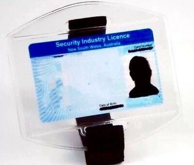 Brand New Pack Of 2 Security Armband Licence ID Holders (Black)
