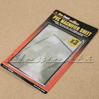 PVC x3 Magnifier Sheet 180mmX120mm Magnifying Glass Easy Read T065