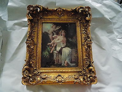 Victorian Style Porcelain Plaque in Ornate Frame (similar to Limoges or KPM)