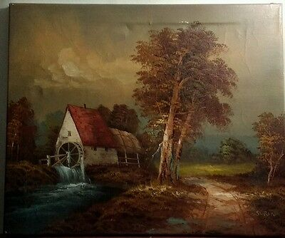 Surin old Vintage Oil Painting on Canvas Signed