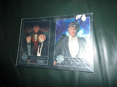 Cornerstone Dr Who series 3 FOIL DOCTORS x 2 cards. RARE.