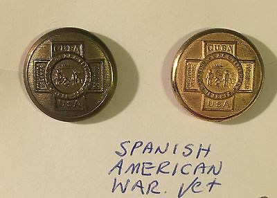 Vintage Spanish-American War Veteran Buttons - Extra Quality