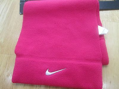 NIKE childrens kids pink fleece scarf BNWT new    girls winter  Ages 3 - 7