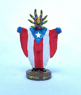 COLLECTABLE Puerto Rico Tradition Vejigante FIGURINE Souvenirs Boricua Rican #3