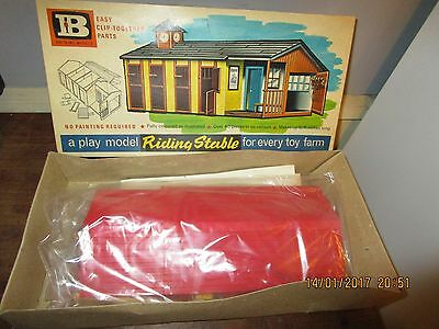 Vintage boxed 1960s Britains no.4719 Riding Stable kit - Stable / Tack Room kit
