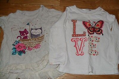 2 Baby Girl Long Sleeved Tops age 12-18M