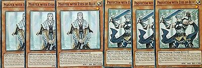 6 card set YuGiOh LDK2-ENKO7/08 MASTER AND PROTECTOR WITH EYES OF BLUE 1st MINT