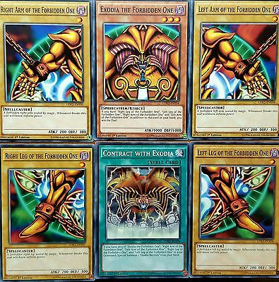 YuGiOh LDK2 EXODIA THE FORBIDDEN ONE 6 PIECE SET including CONTRACT WITH EXODIA
