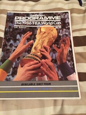 World Cup 1986 Official Programme Uk Edition