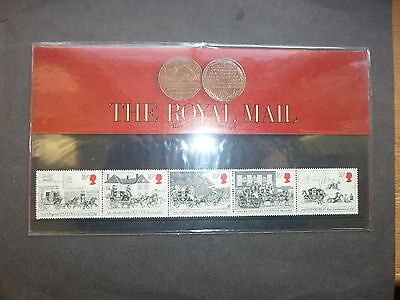 British Stamps First Mail Coach Run presentation pack