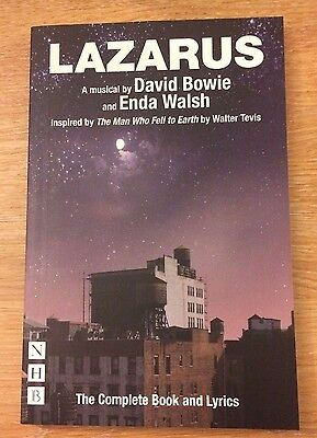 David Bowie Enda Walsh Lazarus Complete  Book And Lyrics Signed By Enda Walsh