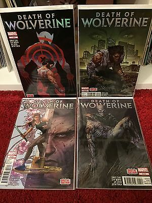 THE DEATH OF WOLVERINE 1-4 Complete MARVEL COMICS X-Men McNiven FIRST PRINTS