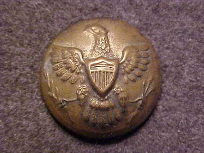 Rare Indian Wars Army Enlisted Eagle Brass 13/16 Uniform Coat Button Waterbury