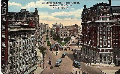New York City, NY - Broadway & Amsterdam Ave., North from 70th Street - c1910