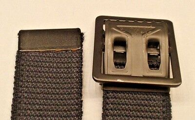 """New Old Stock Black Army BDU Web Belt 41"""" - Cut to Fit"""