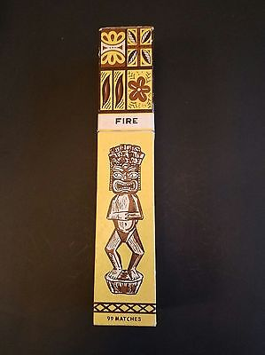 Vintage  Quon -Quon Quality Tiki Fireplace Matches Japan VC5
