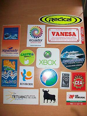 lote 15 pegatinas diferentes / 15 different stickers lot