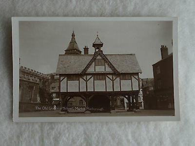 Early Era Theme Real Photo Postcard View Of Market Harborough Old Grammar School