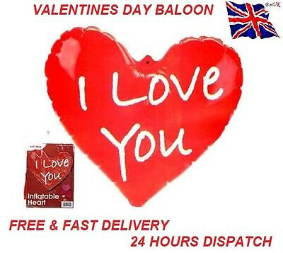 Inflatable Balloon I Love You Heart Valentines Day Anniversary Gift Present Love
