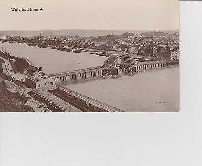 Postcard of construction of Waterford Bridge from W, Dublin, Eire