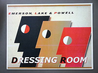 """Emerson Lake & Powell - ELP- Backstage Door Sign ! 8.5"""" X 11"""" Dressing Room !"""